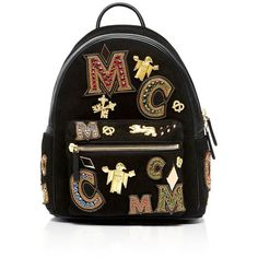 Mcm Small Stark Crown Jewel Backpack (3 775 AUD) ❤ liked on Polyvore featuring bags, backpacks, rucksack bags, mcm bags, knapsack bag, jewel bags and day pack backpack