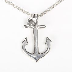 Anchor Blossom Necklace by Sparrow & Co Jewellery NZ