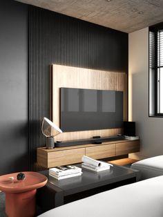 Modern Tv Room, Modern Tv Wall Units, Modern Living, Modern Closet, Lcd Unit Design, Tv Wall Design, Home Room Design, Interior Design Living Room, Design Interiors