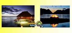 Where would you spend your night? Over the water bungalow or romantic tent? #travel #night #vacation #romance