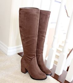 divine-taupe-suede-knee high boots
