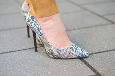 Shoes / heels / Pumps / Fake / snake / leather / Print / Schlangenleder / Optik / Look / Outfit / Style / Fashion / Blog / Blogger / Animal Print