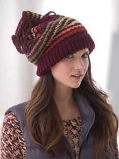 Image of Drawstring Slouch Hat free pattern