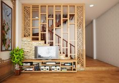 portable room dividers room divider partitions in conjunction with modern room partitions omgj interior home interior design inspiration Living Room Kitchen Partition, Living Room Divider, Room Partition Designs, Partition Ideas, Wood Partition, House Stairs, Staircase Design, Modern Room, Home Improvement Projects