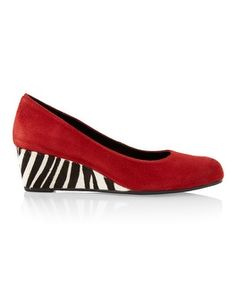Chico's Loraine Zebra Wedge Pump #chicos
