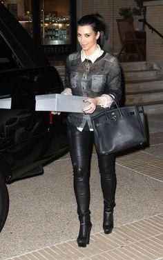 kim kardashian bcbg leather pants
