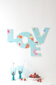 Laura Ashley Blog | MAKE and DO: WEDDING LOVE SIGN | http://blog.lauraashley.com