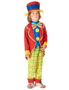 Disfraz de payaso para niño: Este traje de payaso para niño incluye un pantalón, una chaqueta, una pajarita, una camiseta y un sombrero (guantes, bastón, zapatos, peluca y nariz no incluidos). Este traje es...
