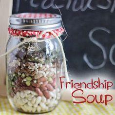Gift in a Jar Friendship Soup Bean Soup