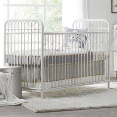 Little Seeds Monarch Hill Ivy Metal Crib, White Iron Furniture, Baby Furniture, White Baby Cribs, Iron Crib, Vintage Nursery Decor, Stylish Beds, Crib Mattress, Nursery Design, Ivy