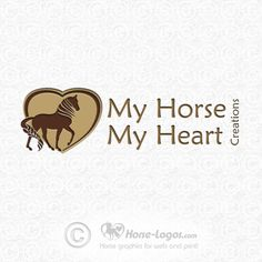 Custom horse logo design created for Deborah Little of My Horse My Heart Creations - Custom Horse Hair Jewelry. Copyrighted by this business. For your own custom logo visit Horse-Logos.com  #horse #logo #equine #graphic #equestrian #design #brand #branding #braid #braiding