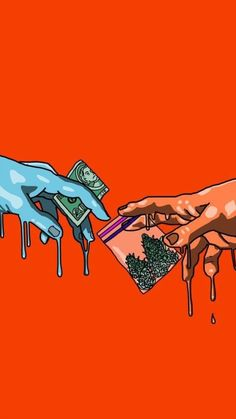Blood Wallpaper, Screen Wallpaper, Wallpaper Backgrounds, Photographie Street Art, Drugs Art, Marijuana Art, Stoner Art, Weed Art, Psy Art