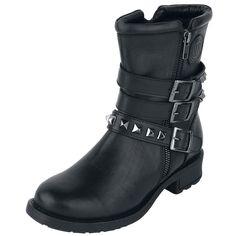 Täydelliset naisten rock-bootsit - Rock Rebel by EMP! Tutustu tuotteeseen: http://www.emp.fi/rock-rebel-by-emp-studded-boots-varsikengat/art_287514/?campaign=emp/fi/sm/pin/promotion/desk/27102014-287514