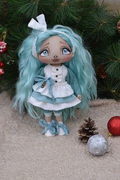 Beauty textile doll art doll handmade doll fabric doll