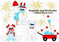 Popsicles and Fireworks Paper Piecing Patterns, Cutting Files, Silhouette Studio. Scrapbook, SVG Files, MTC SCAL