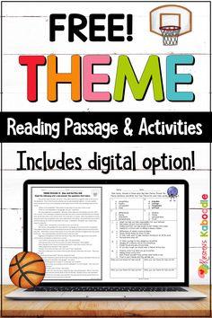 6th Grade Activities, Fun Classroom Activities, Reading Activities, Classroom Ideas, Reading Themes, Reading Centers, Comprehension Activities, Reading Strategies, Theme Anchor Charts