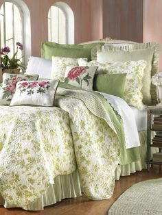 the green cottage .. X ღɱɧღ ||Brighton Toile Coverlet, Shams & Pillows by Williamsburg® | linensource