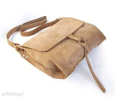 • na ramię, torebki - surowa baronowa beżowy zamsz