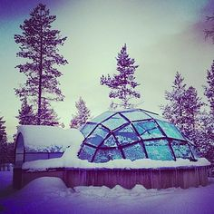Glass Igloo hotel rooms!! Kakslauttanen in Finnish Lapland, Finland | 16 Hotels That Are So Cool You'll Want To Stay Forever