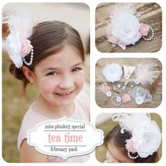 Tea time Plunkett's! LOVE Miss Plunkett's interchangeable accessories!
