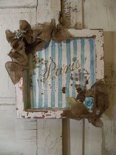 Shabby chic French blue Paris shadow box wall by AnitaSperoDesign, $37.00