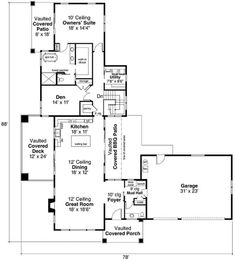 A brilliant achievement of architectural design is displayed in this house that has 2919 square feet of fully conditioned living space with an 888-square-foot finished daylight basement. #houeplan #openflooreplan Contemporary Bathrooms, Contemporary Style, Modern, Apartment Layout, Ranch House Plans, Minimal Decor, The Ranch, Large Windows, Open Floor