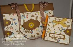 Purse and Post-It Note Holder made from Comfort Cafe' Designer Series Paper (Stampin' Up!)