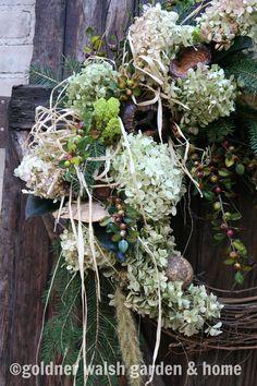 Winter wreath by Goldner Walsh Garden & Home.
