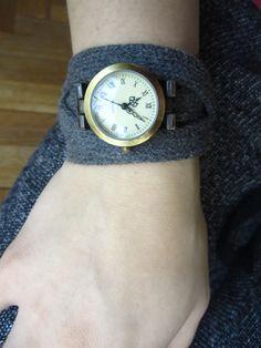 sportowo sznurówkowy zegarek / shoelace-strap watch