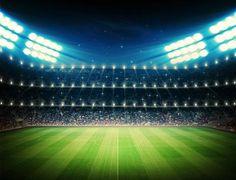 Katebackdrop:Kate Football Sport Stadium Photography Backdrops Bright Lights Stage Photo Backgrounds