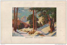 Hochwald im Winter - Druck, entnommen aus Velhagen und Klasings- Monatsheften