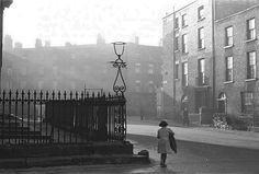 Hardwick Crescent, 1950s, demolished after being cleared of tenements / slums and replaced with flats. St. George's Church on the crescent has been saved abd restored.