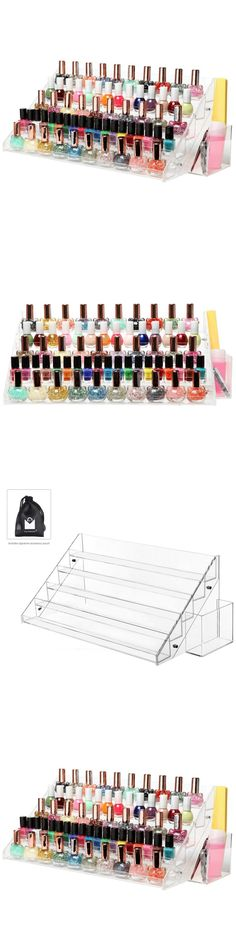 Nail Practice and Display: Makeup Nail Polish Display Stand Organizer Clear Holder 60 Bottles Rack Acrylic -> BUY IT NOW ONLY: $36.39 on eBay!