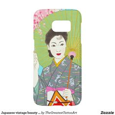 Japanese vintage beauty geisha lady woman Maiko Samsung Galaxy S7 Case
