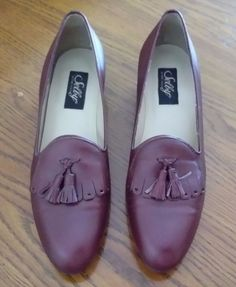 Selby Woman's Active Flex Brown Leather Tassel Shoes Loafer Pumps 8N Brazil NEW #Selby #ShoesLoaferPumpsFlats #Casual