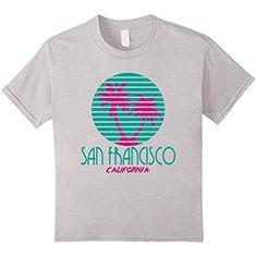 San Francisco CA T Shirt Palm Trees California Souvenir