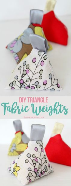 Make your own fabric weights with this 10 minutes tutorial! These sewing weights are perfect for skipping pins when tracing your patterns but are also cute enough to use as home decor!