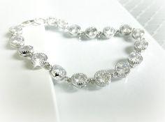 Rhinestone Wedding Bracelet Cubic Zirconia by AliChristineBridal, $40.00