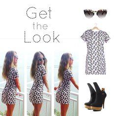 #GettheLook de Geraldine Bazan!!! #Ultimos vestidos de #piñas !!! No te puedes quedar sin el tuyo!!! !! Tmb nuestros #lentes favoritos de VIA VANILLA y completa el look con High on Fashion !!! De venta en Plaza Satélite Centro Comercial !! Estamos en PB saliendo de Liverpool !!
