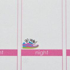 Go Run or Go Walk Running Shoe Exercise Stickers   Set of 72   Erin Condren Life Planners, Plum Paper, Calendars, Scrapbooking