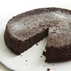 Chocolate Olive Oil Cake: This dessert will quickly become your go-to; it's like a fudgy brownie. And celiac sufferers rejoice, there's absolutely no gluten! #gluten-free #dessert | Health.com