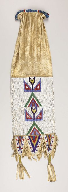 A SIOUX BEADED HIDE TOBACCO BAG. . c. 1890. ... American Indian   Lot #77181   Heritage Auctions