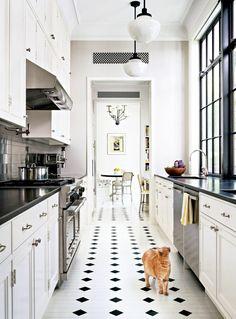 Carrelage cuisine sol on pinterest for Carrelage damier noir et blanc 30x30