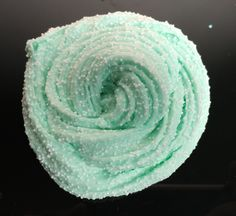Swirling Melted Mint Green Fluffy Floam w/ Micro Beads