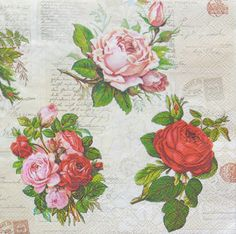 Craft Caspari.Servilletas decoupage tazas 4x Paper Napkins for Decoupage