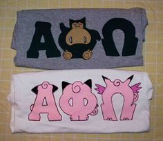 Snorlax and Clefairy evolution line APO letters :)