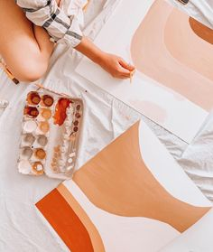 Terracotta color Palette in watercolor.next creative project inspiration. Painting Inspiration, Art Inspo, Cuadros Diy, Illustration Art, Illustrations, Guache, Photo Wall Collage, Matisse, Diy Art