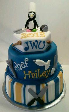 Johnson & Wales pastry chef grad cake