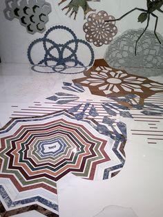 Marble inlay by Patricia Urquiola. #interiors, #design