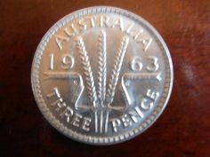 Three pence old australian coin (replaced 1966) - what you could buy for threepence (pronounced 'thrippence) in the 50's would cost $2 now!